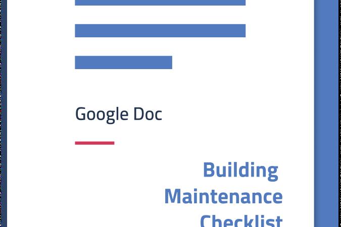 Downloadable Building Maintenance Checklist